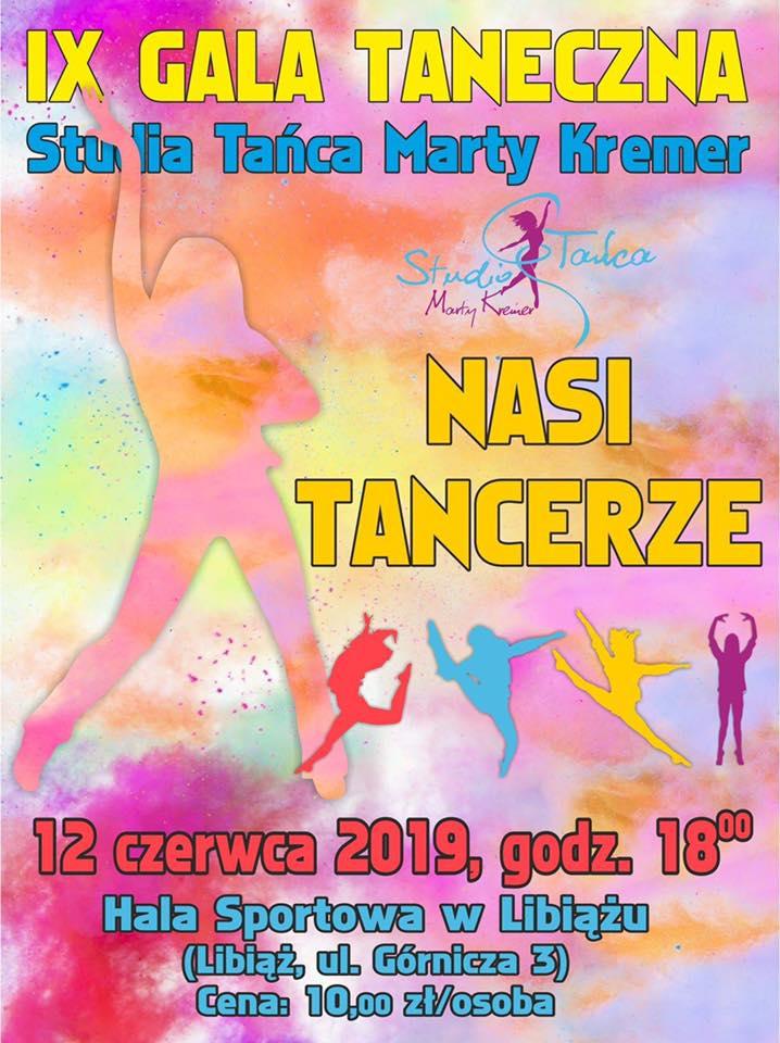 Plakat promujący IX Gale Taneczną Studia Tańca Marty Kremer
