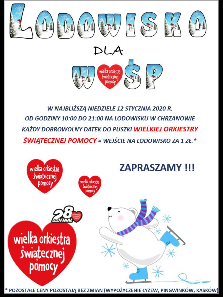 Plakat Lodowisko dla WOŚP.